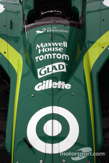 Car detail of Dario Franchitti, Target Chip Ganassi Racing