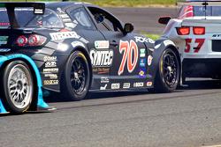 #70 SpeedSource Mazda RX-8: Jonathan Bomarito, Sylvain Tremblay and #57 Stevenson Motorsports Camaro GT.R: Andrew Davis, Robin Liddell collide