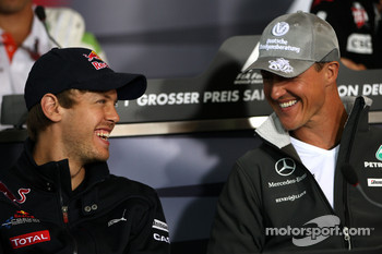 FIA press conference: Sebastian Vettel, Red Bull Racing, Michael Schumacher, Mercedes GP