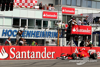Fernando Alonso, Scuderia Ferrari wins the race