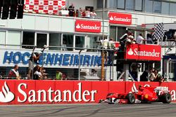 Fernando Alonso, Scuderia Ferrari wins the race