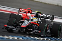 Bruno Senna, Hispania Racing F1 Team leads Timo Glock, Virgin Racing