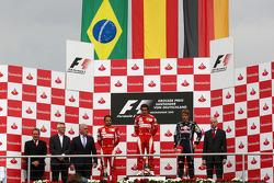 Felipe Massa, Scuderia Ferrari, Fernando Alonso, Scuderia Ferrari and Sebastian Vettel, Red Bull Racing
