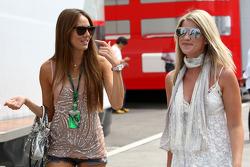 Jessica Michibata girlfriend of Jenson Button, Isabell Reis girlfriend of Timo Glock, Virgin Racing