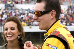 Kyle Busch, Joe Gibbs Racing Toyota with girlfriend Samantha