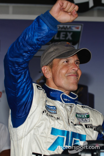 Victory lane: race winner Scott Pruett