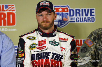 Dale Earnhardt Jr., Hendrick Motorsports Chevrolet during a press conference