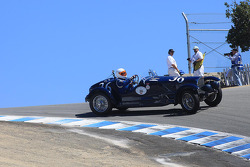 Close call for Peter W. Mullin, 1936 Bugatti Type 57SC