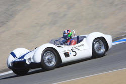Dan Gurney honored, Dario Franchitti driving a Birdcage Maserati that Gurney once race