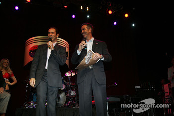 Helio Castroneves, Team Penske and Randy Bernard, CEO Indy Racing League