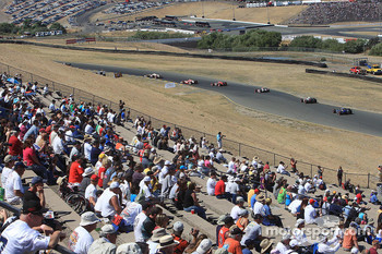 Fans watch early race action