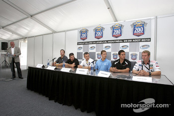 Pre-event press conference: J.R. Fitzpatrick, Patrick Carpentier, event promoter Francois Dumontier, Trevor Bayne, Andrew Ranger and Mark Wilkins