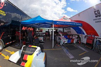 Action Express Racing and Brumos Racing paddock area