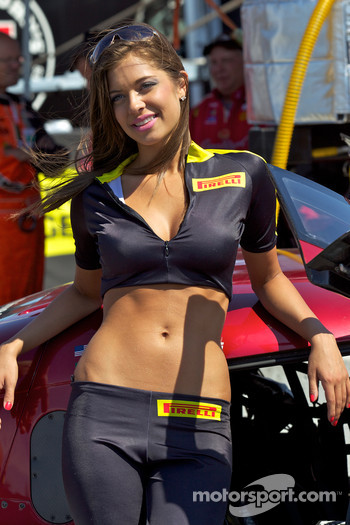 A charming Pirelli girl