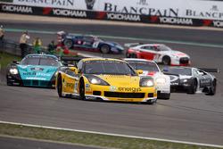 #13 Phoenix Racing / Carsport Corvette Z06: Marc Hennerici, Alexandros Margaritis leads the field