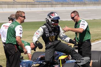 Ed Carpenter, Panther Racing/Vision after taking the pole