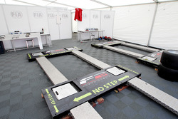 FIA weighbridge in scrutineering
