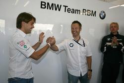Augusto Farfus BMW Team RBM BMW 320si and Andy Priaulx BMW Team RBM BMW 320si