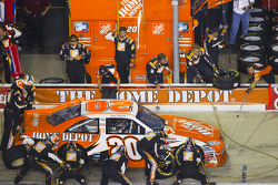 Pit stop for Joey Logano, Joe Gibbs Racing Toyota