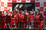 Ferrari team celebration