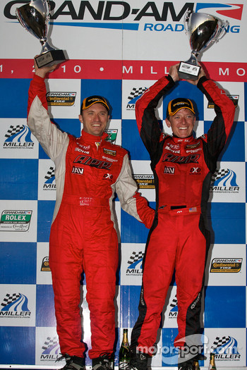 ST podium: class winners Ian Baas and Aaron Povoledo