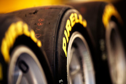 Pirelli logo on a tyre