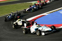 Felipe Guimaraes leads Nigel Melker and Dean Smith