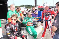 Marco Andretti, Andretti Autosport, Tony Kanaan, Andretti Autosport and Ryan Hunter-Reay, Andretti Autosport