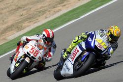 Valentino Rossi, Fiat Yamaha Team and Marco Simoncelli, San Carlo Honda Gresini