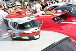 Emanuele Pirro helmet