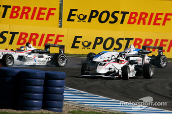 Carlos Munoz, Mcke Motorsport Dallara F308 Mercedes, Roberto Merhi, Mcke Motorsport Dallara F308 Mercedes