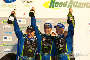 David Brabham, Simon Pagenaud and Marino Franchitti celebrate victory at 2010 Petit Le Mans
