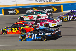Dale Earnhardt Jr., Hendrick Motorsports Chevrolet, Clint Bowyer, Richard Childress Racing Chevrolet, Ryan Newman, Stewart-Haas Racing Chevrolet, Denny Hamlin, Joe Gibbs Racing Toyota