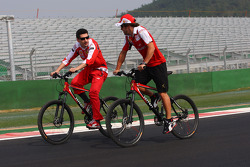 Fernando Alonso, Scuderia Ferrari riding on his bike