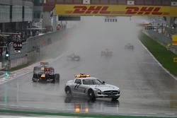 The race under the Safety car, Sebastian Vettel, Red Bull Racing