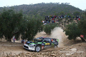 Ken Block and Alex Gelsomino, Ford Focus WRC 08, Monster World Rally Team