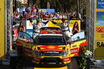 Podium: second place Petter Solberg and Chris Patterson, Citron C4 WRC, Petter Solberg Rallying