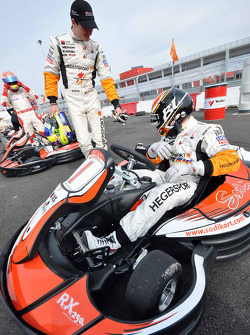 GT1 Karting in Navarra: Nico Verdonck and Bert Longin