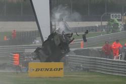 Huge crash for Alexandre Prémat, Audi Sport Team Phoenix Audi A4 DTM