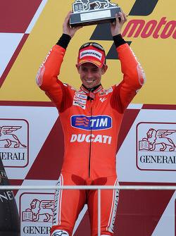 Podium: second place Casey Stoner, Ducati Marlboro Team