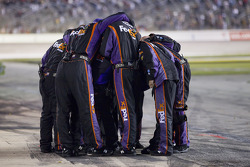 Joe Gibbs Racing Toyota crew members celebrate