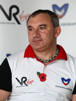 Nikolay Fomenko Marussia Motors President at a press conference where Virgin Racing announced that Marussia have acquired a shareholding in the team