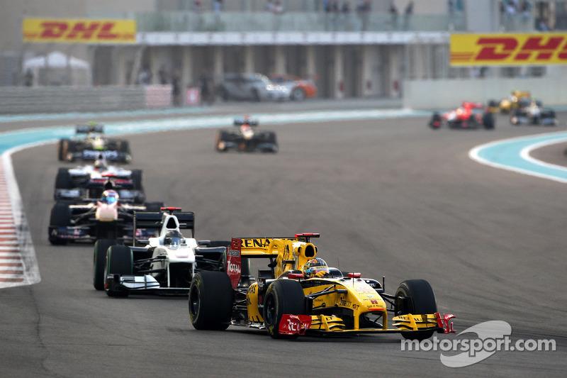 Robert Kubica, Renault F1 Team vor Nick Heidfeld, Testfahrer, Mercedes GP
