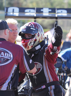 Larry Dixon being congradulated after winning Full Throttle Top Fuel World Championship