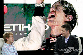 Sebastian Vettel and anchorman Andreas Groebl