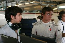 Sergio Perez with Esteban Gutierrez, BMW Sauber F1 Team