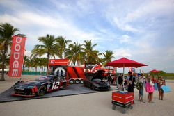 NASCAR Championship drive event in South Beach: Dodge display