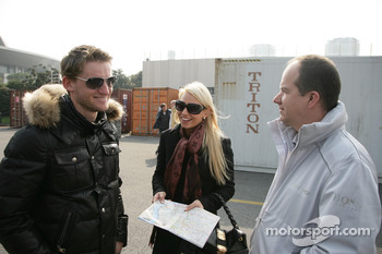 Maro Engel, Mcke Motorsport, AMG Mercedes C-Klasse with his Girlfriend Steffi and Michael Weiss Mcke Motorsport