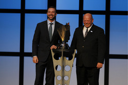2010 NASCAR Sprint Cup Series Champion Crew Chief Chad Knaus and NASCAR's Managing Director of Competition John Darby pose for a photo during the NMPA Myers Brothers Awards Ceremony at the Bellagio