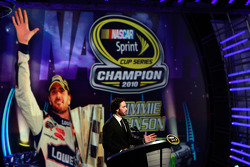 Five-time champion Jimmie Johnson speaks